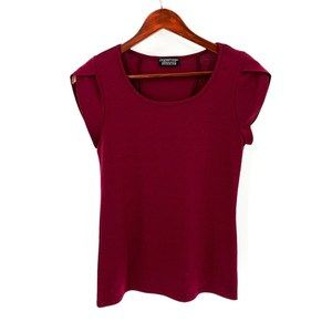 Papermoon for Stitch Fix Burgundy Short Sleeve Top